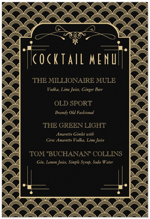 Great Gatsby Cocktail The Millionaire Mule A Skinny