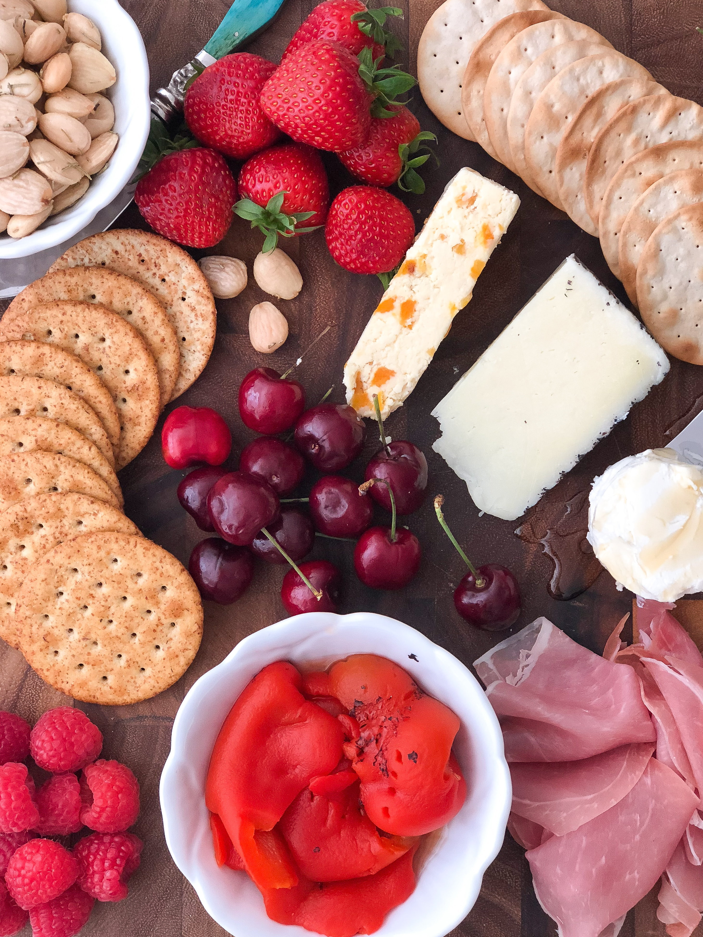 How to Create the Ultimate Summer Cheese Board from Trader Joe's: Paired with Rose Wine.