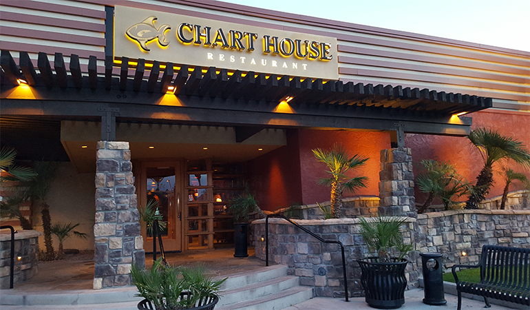 The Chart House Happy Hour In Scottsdale, Arizona.