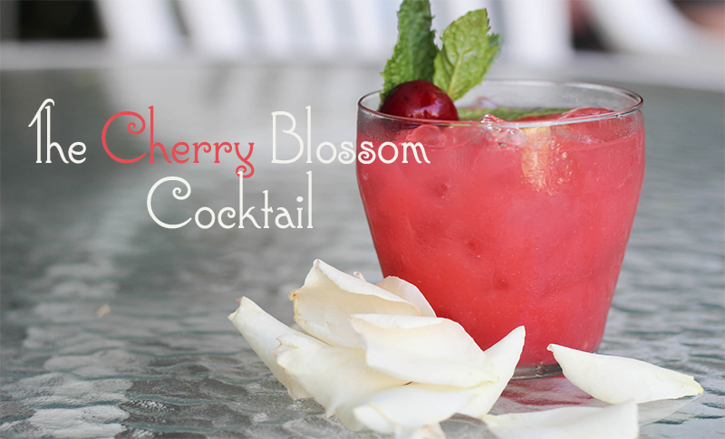 The Cherry Blossom Cocktail from Lovehappyhour.com