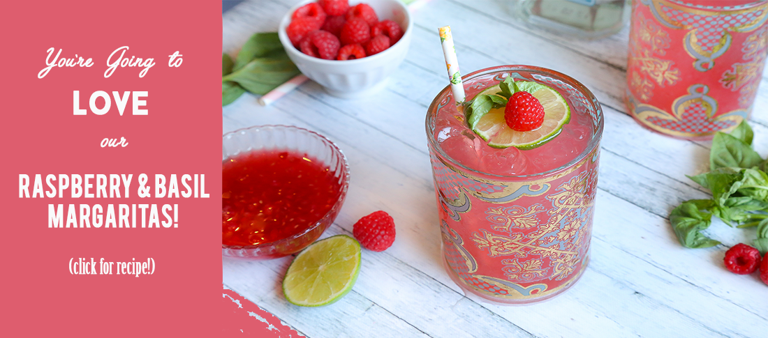 Raspberry & Basil Margarita recipe.