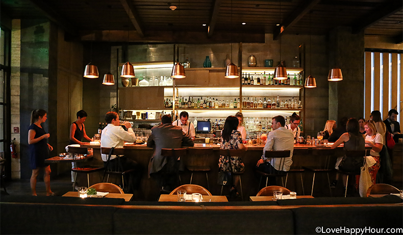 The bar at Hinoki and the Bird.