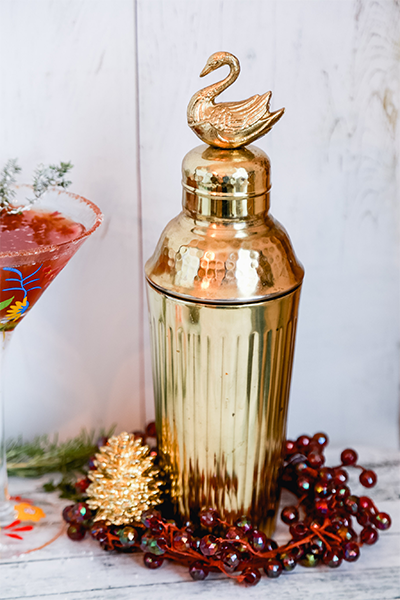 Gold Swan Cocktail Shaker from Anthropologie