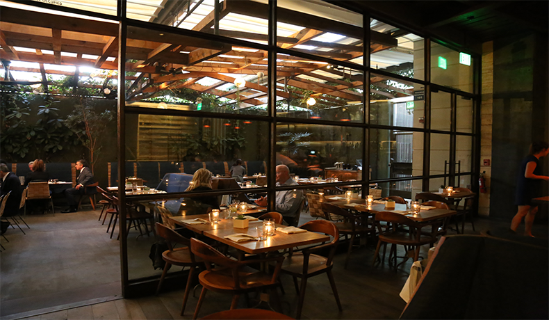 Hinoki and the Bird (patio) in Century City, CA.