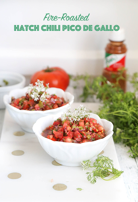 Fire-roasted Hatch Chili Pico de Gallo