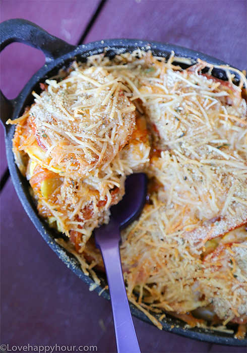 Mexitalian Skillet Squash (an easy vegetable side dish recipe) by Maren Swanson. #recipe #squash #skillet