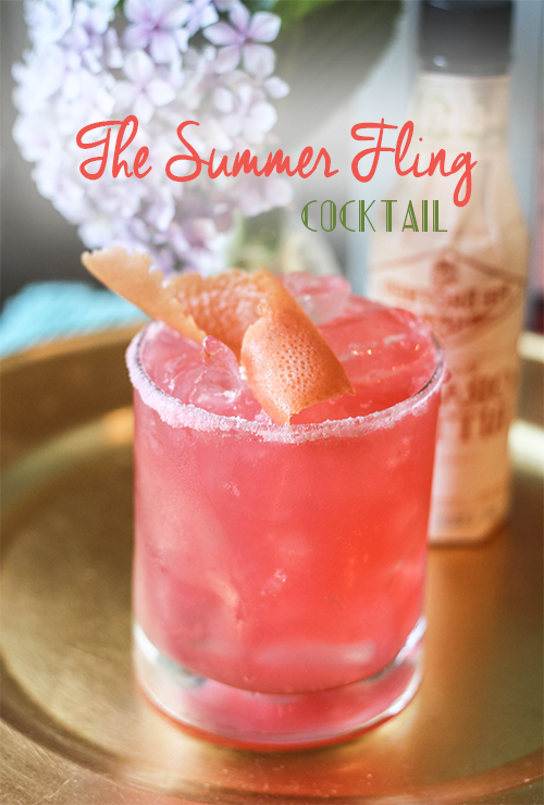 The Summer Fling Cocktail from Lovehappyhour.com