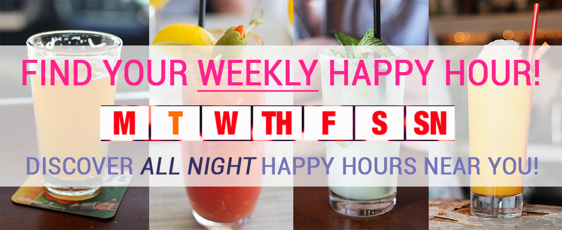 Find ALL NIGHT Happy Hours in Los Angeles!